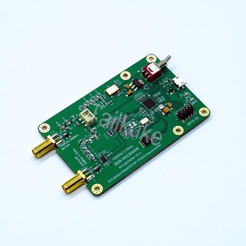 RTL-SDR плата разработки 100 кГц-1,7 ГГц Upconverter 1PPM TXCO RTL-SDR приемник RTL2832U R820T2 SDR Radio RTL08THFR SDR