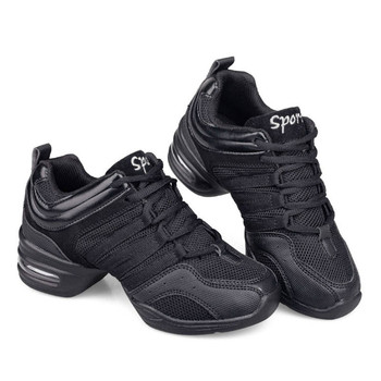 modern dance sneakers for women ladies soft bottom square heel jazz dancing boots middle heels 4cm autumn winter fitness shoes Mesh Jazz Shoes Woman Ladies Modern Soft Outsole Dance Sneakers Breathable Lightweight Dancing Fitness Shoes Sapato Feminino