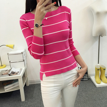 In the spring of 2019 new Korean women short sweater loose all-match long sleeve