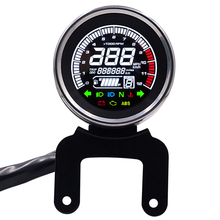 Motorcycle Temp Odometer LED Light Sealing Tachometer Digital LCD Display Multifunction Practical Speedometer Replacement