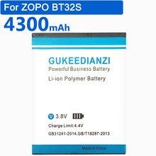 Bateria de substituição de gukeedianzi 4300mah bt32s para zopo bt32s bateria de polímero de lítio recarregável