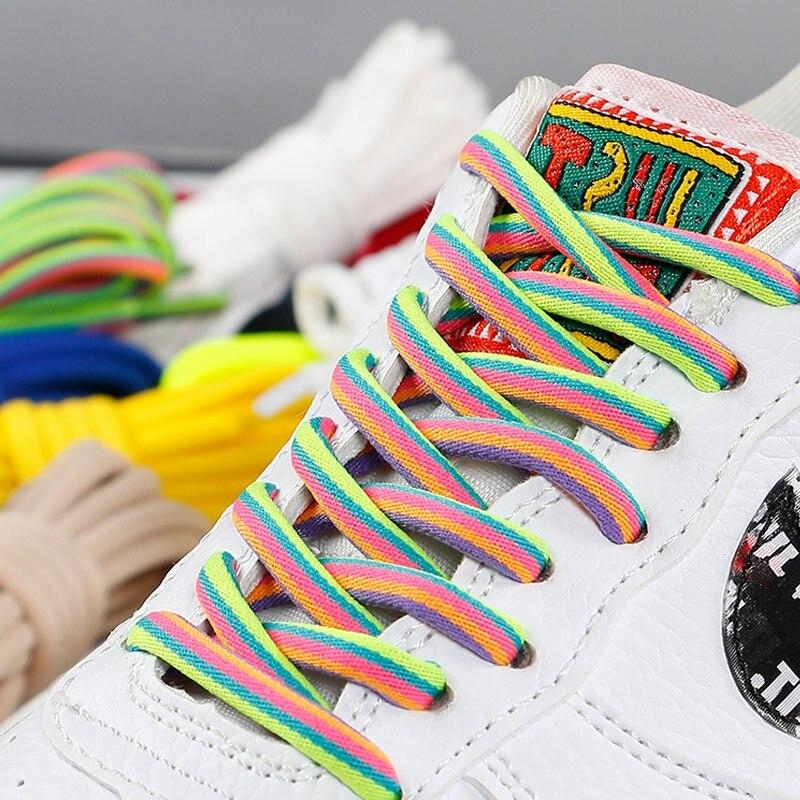 Lace   Gradient  Color  Flat  Laces  Boot Sneaker Shoe Shoelaces Round   Shoe