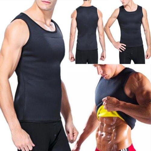 Men's Waist Trainer Vest Sauna Sweat Body Shaper Tank Top Slimming Trimmer Shirt 1