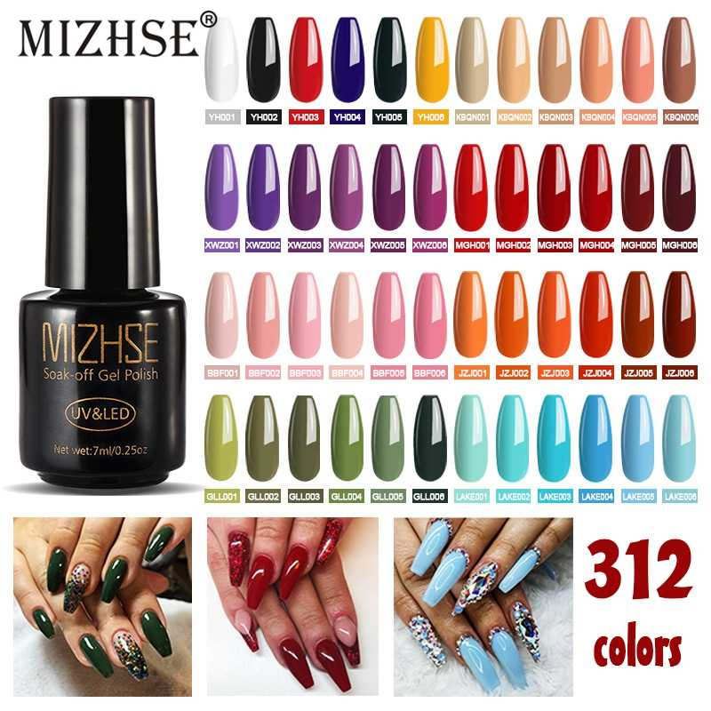 MIZHSE 7ML Mode Roze Kleur Serie Gel Nagellak UV Gel Polish Langdurige Losweken UV Nail Gel polish Hot Gelpolish Salon