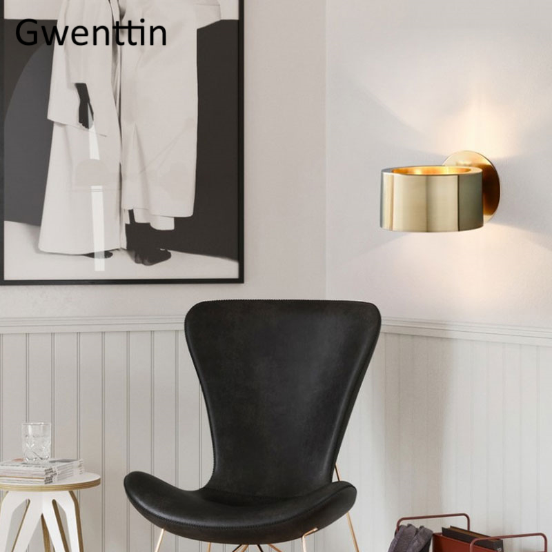 Image 4 - Modern Luxury Gold Wall Lamp Led Wall Sconce Light Fixtures Mirror Lights for Home Art Deco Loft Industrial Lamp Stair Luminaire-in LED Indoor Wall Lamps from Lights & Lighting