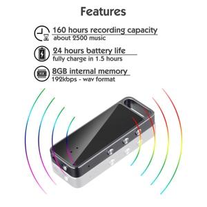 Image 2 - قلم USB صغير رفيع للغاية يعمل بالصوت ، 8 جيجابايت و 16 جيجابايت ، مسجل صوت رقمي ، مشغل Mp3 ، تسجيل ، 192Kbps ، صندوق معدني