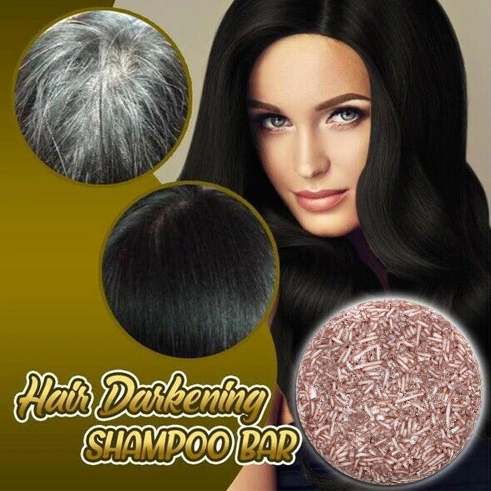 Hair Color Dye Treatment Bamboo Charcoal Clean Hair Shampoo Bar Permanent Root Coverage Shiny Hair Scalp Treatment