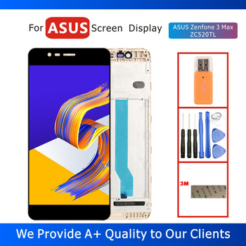 100% Tested 5.2 LCD Display for ASUS Zenfone 3 Max ZC520TL Display with Touch Screen Digitizer Assembly Frame Replacement Parts 100% tested original lenovo s90 lcd display touch screen digitizer pannel assembly with frame replacement s90 t s90 u s90 a tool
