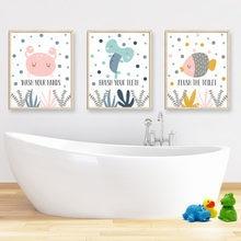 Детская щетка с принтами в ванной комнате ручная стирка милый