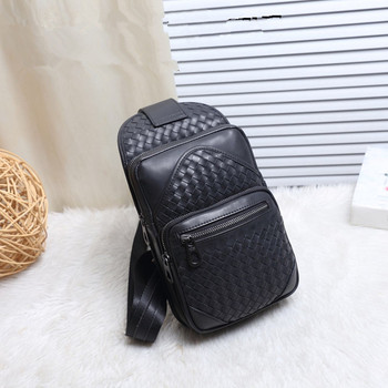 Kaisiludi leather braided men's bag chest wrapped chest wrapped wax cowhide cowhide fashion single shoulder oblique span bag фото