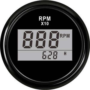"2""(52mm) Auto Truck Boat Digital Tachometer 0-9990 RPM With Hourmeter fit for Boat Car Truck Motorcycle Red Backlight 9-32V(China)"
