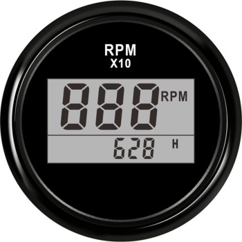 2(52mm) Auto Truck Boat Digital Tachometer 0-9990 RPM With Hourmeter fit for Boat Car Truck Motorcycle Red Backlight 9-32V 1pc new type 0 8000rpm tachometer gauges modification 85mm lcd revolution meters 9 32v rev counters with hourmeter for auto boat