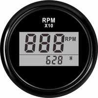 """2 """"(52mm) auto Lkw Boot Digitaler Tachometer 0-9990 RPM Mit Betriebsstundenzähler fit für Boot Auto Lkw Motorrad Rot Hintergrundbeleuchtung 9 -32V"""
