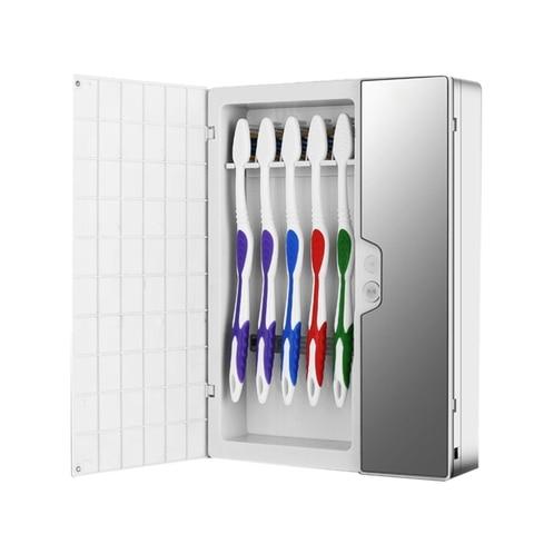 dust proof luz uv escova sanitizer esterilizador automatico inteligente escova de dentes titular do limpador