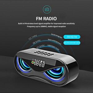 Image 3 - M6 Cool hibou conception Bluetooth haut parleur LED Flash sans fil haut parleur FM Radio réveil TF carte Support sélectionnez des chansons par numéro