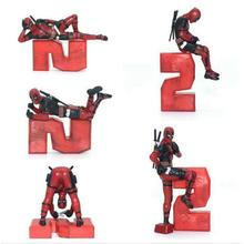 все цены на Marvel X-Men Deadpool 2 Figure Super Hero Deadpool PVC Action Figure Collectible Model Kids Toys Home Decoration Doll онлайн