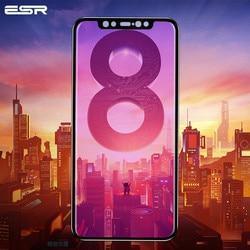 Ochraniacz ekranu ESR do szkła hartowanego Xiaomi MI 8 3X mocniejszy 9H 3D pełny zakrzywiony pokrowiec Xiaomi MI 8 SE szkło ochronne