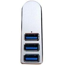 Premium 3-Port Aluminum Mini USB 3.0 Hub ,90°/180° Degree Rotatable,for PC, Laptop, Notebook PC,  XPS and More