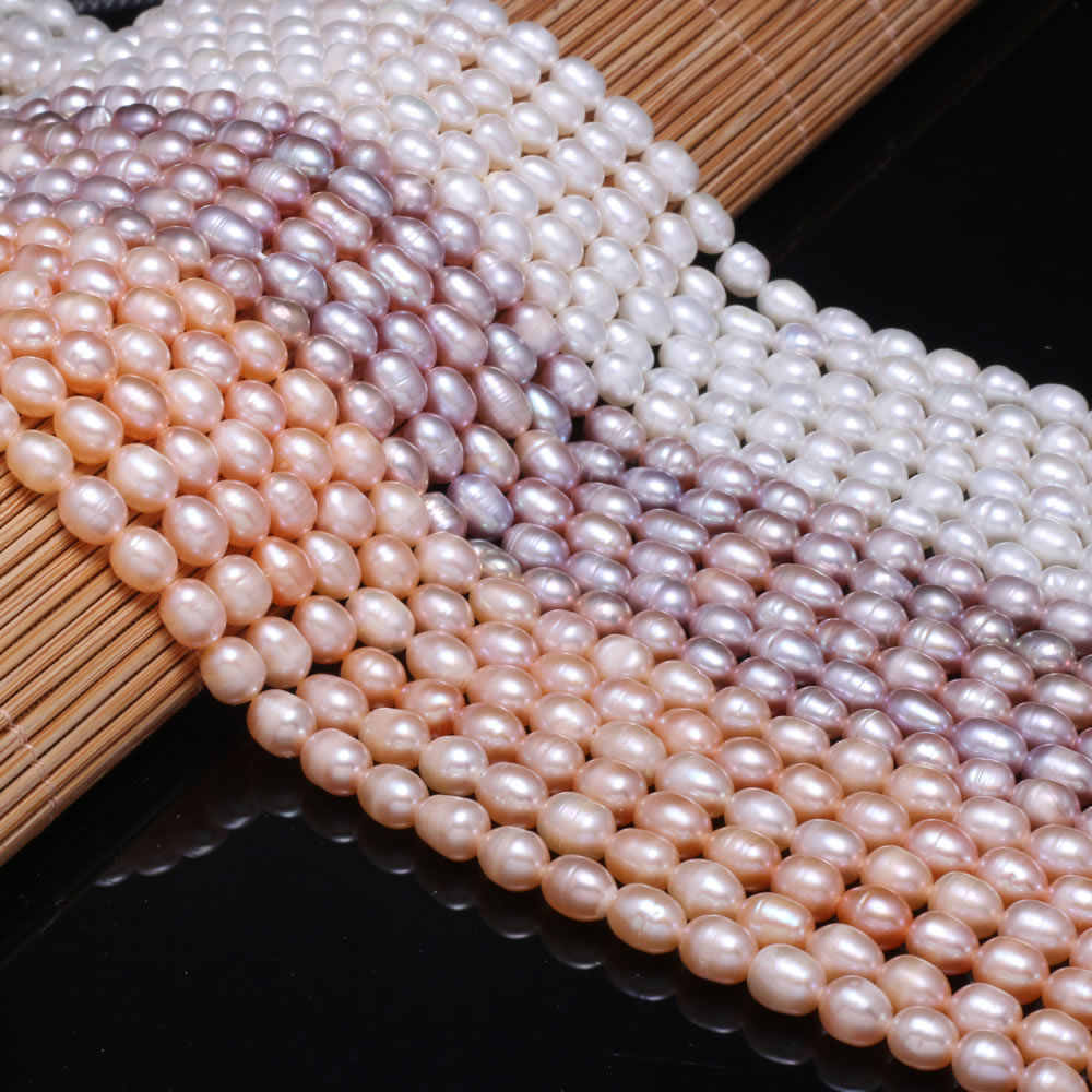 """4*8mmm White Rice Shape High Quality Natural Coral Beads for Beadwork DIY 15/"""""""