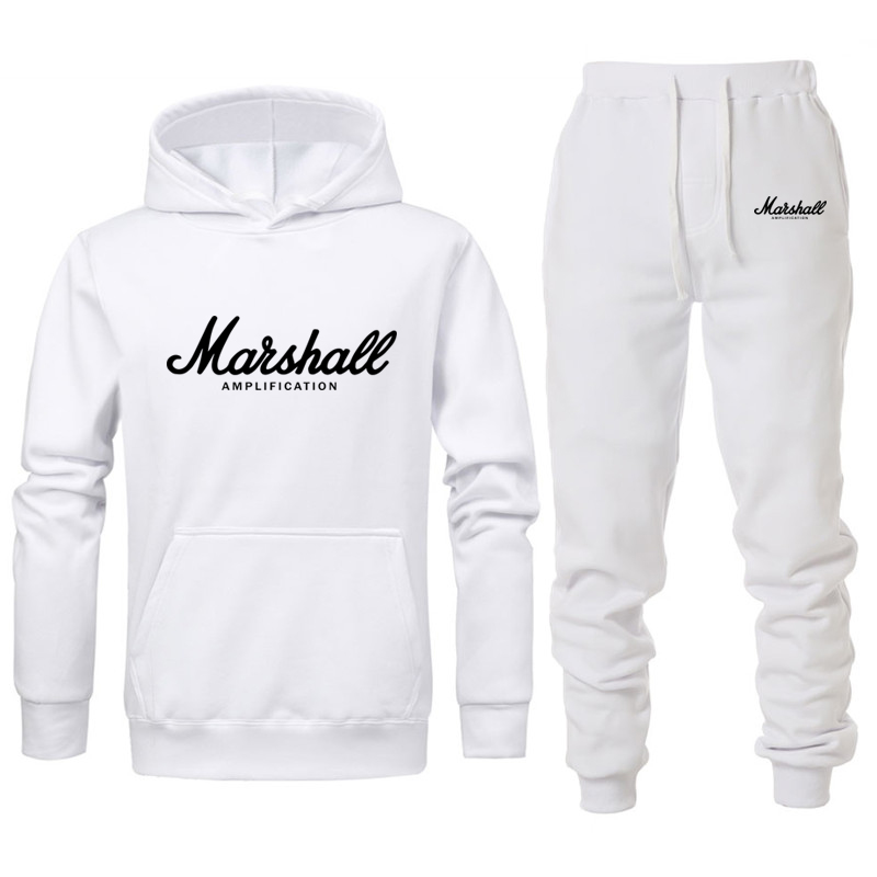 Marshall Hoodie Suit Men/women Lovers Mens Casual Sports Fitness Suit Cotton Autumn/winter Warm Hoodeds Shirt Street Clothing
