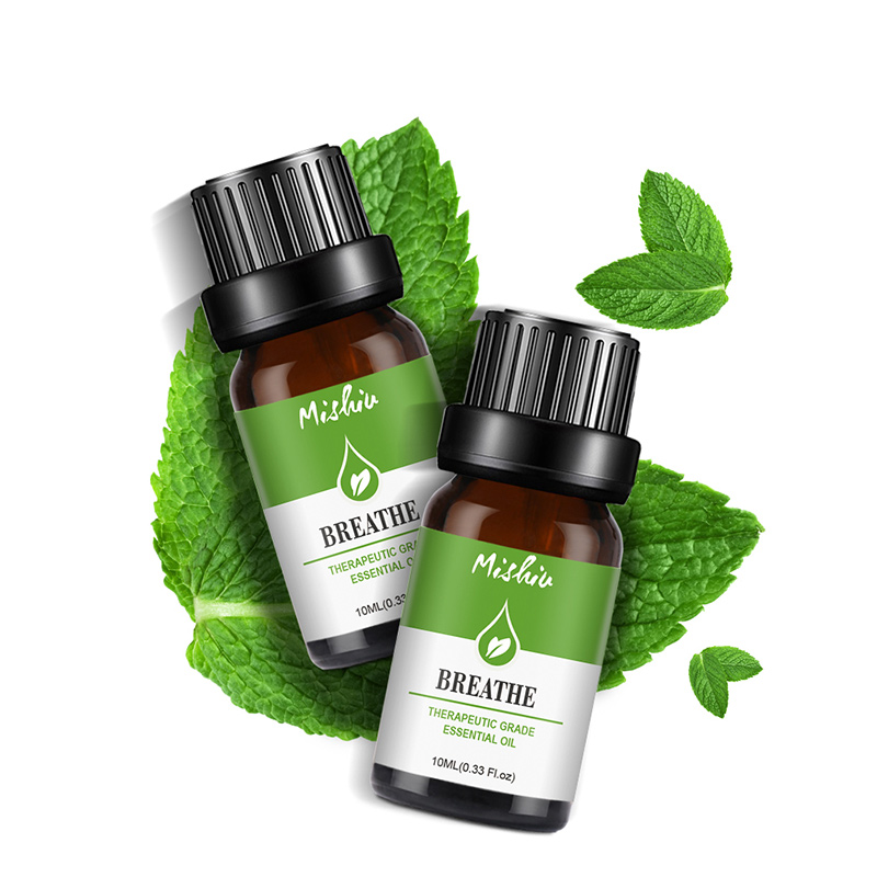 Mint Eucalyptus Lemon Plant Essential Oil Refreshing Promote Blood Circulation Massage Scraping Oil 10ml Massage Essential Care