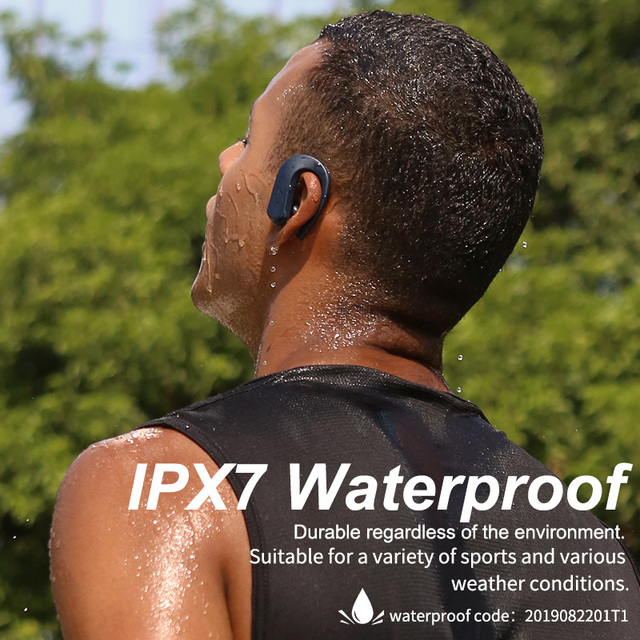 T1 TWS Bluetooth Headphones Sport 9D Stereo HiFi BT V5.0 Wireless Earphones IPX7 Waterproof 36Hrs Play-time Touch Control 6