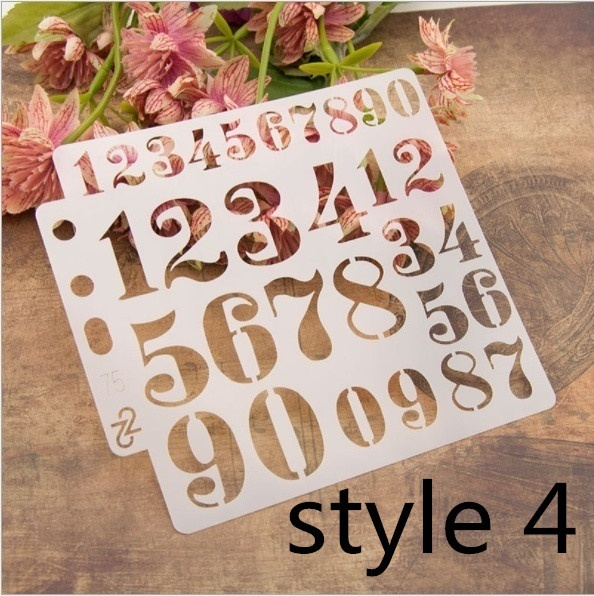 13*13cm 5 Inch Digit Number 0-9 Practice DIY Layers Scrapbook Coloring Engraving Album Decorative Painting Template Stencils