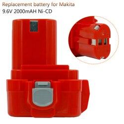 PA09 9.6V 2000mAh Ni CD Replacement Battery for Makita 9120 9122 6207D 6261D 192595-8 192596-6 Screwdrive Bateria