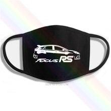 Ford Focu RS печать, стирающаяся дышащая многоразовая хлопковая маска для губ