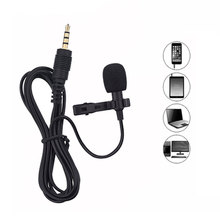 2m Mini Portable Microphone Condenser Clip-on Lapel Lavalier Mic Wired Mikrofo/Microfon for Phone for Laptop