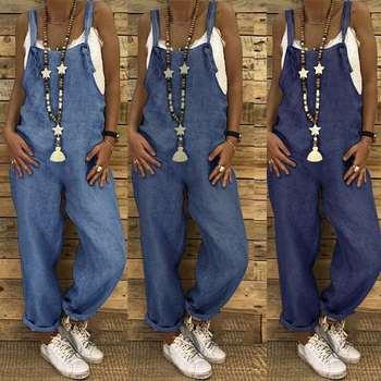 ZANZEA Women Jumpsuits Summer Rompers Casual Dungarees Combinaison Cotton Linen Harem Pants Bib Overalls Female Straps Playsuits 1