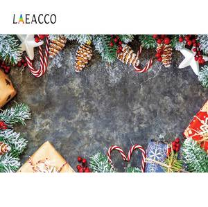 Image 5 - Laeacco Vinyl Backdrops For Photography Christmas Wood Board Flower Petal Party Doll Baby Portrait Photo Background Photo Studio
