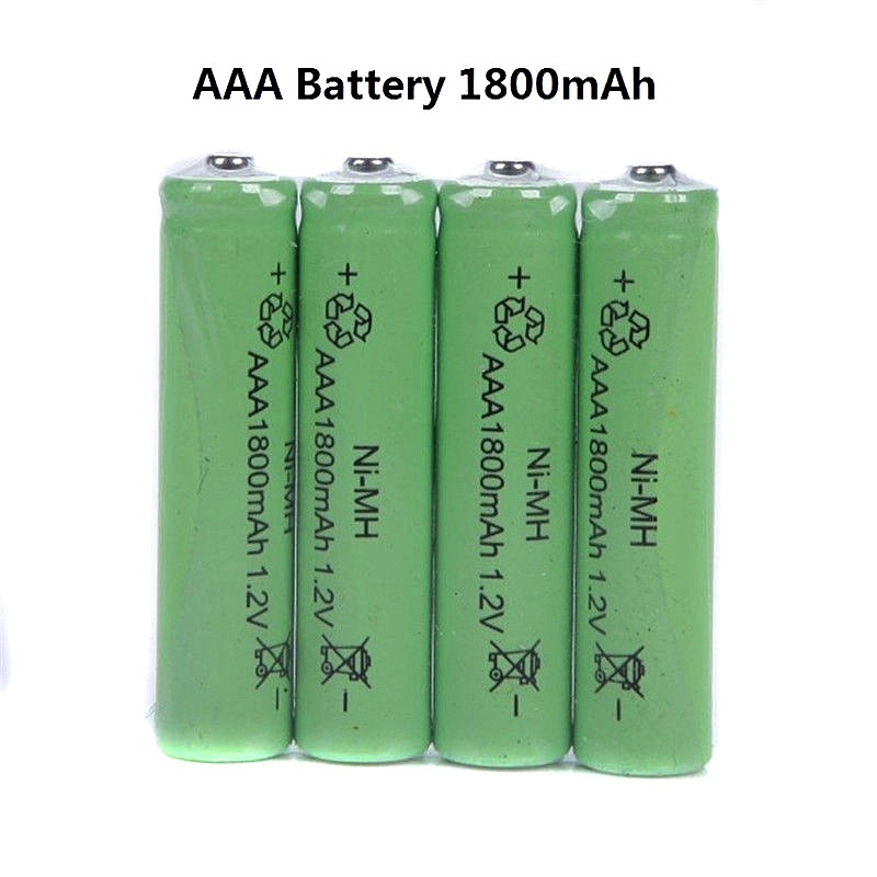 10pcs <font><b>AAA</b></font> <font><b>Rechargeable</b></font> <font><b>Battery</b></font> <font><b>1800mAh</b></font> <font><b>1.2V</b></font> <font><b>NI</b></font>-<font><b>MH</b></font> <font><b>Batteries</b></font> For Remote Remote Control Toy Light <font><b>Rechargeable</b></font> <font><b>Battery</b></font> image
