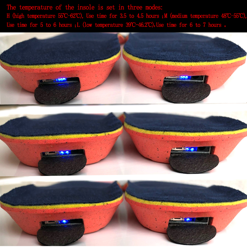 New electronic heating insoles remote-control insoles memory foam Thermal insulation Shoes Pad For Men And Women large 1800MAH