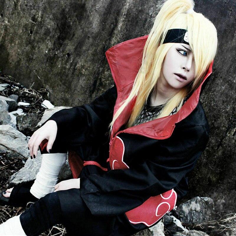 Купить с кэшбэком Anime NARUTO Uchiha Itachi Cosplay Costume Cloak Akatsuki Ninja Wind Coat Sets