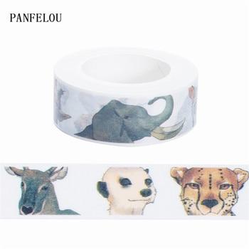 10M*15mm Animal head stickers Washi Masking tape Quality good price HOT sell  DIY Scrapbook Embellishments Decoration