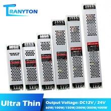 Ultra Dünne LED Streifen Netzteil DC12V 5A 8A Elektronische Transformator 60W 100W 150W 200W 300W 400W 12V Led-treiber Power Adapter