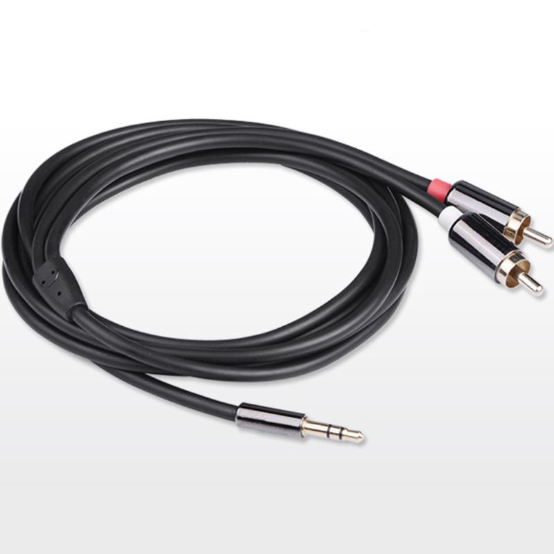 1M 2M 5M Audio Cable 2RCA to 3 5 Audio Car Cable RCA 3 5MM Jack Male to Male RCA AUX Cable for Amplifier Phone Headphone Speaker