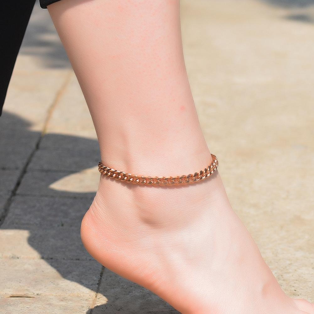 2020 New Stainless Steel Anklet Fashion Personalized High Quality Jewelry|Chain & Link Bracelets| - AliExpress