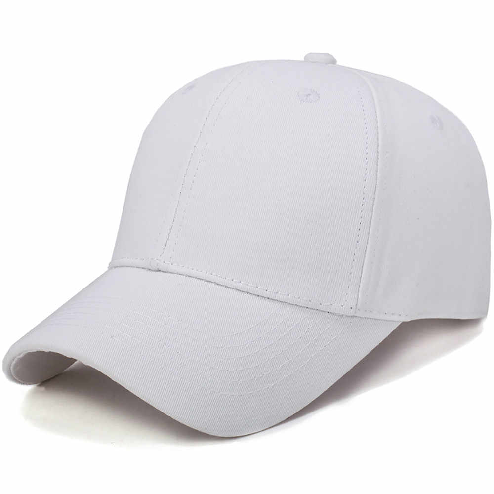 Visor Lampu Wanita Pria Topi Kapas Lampu Papan Padat Warna Bisbol Cap Pria Cap Kolam Matahari Topi Adjustable Olahraga Topi di Musim Panas