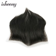 Isheeny Full Lace Men Hairpiece 7x15cm Human Hair Hairline India Natural Human Hair Breathable Base