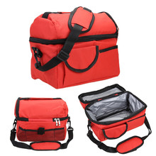 2 Layers Insulated Cooler Bag Thermal Lunch Box Picnic Food Milk Storage Waterproof Tote
