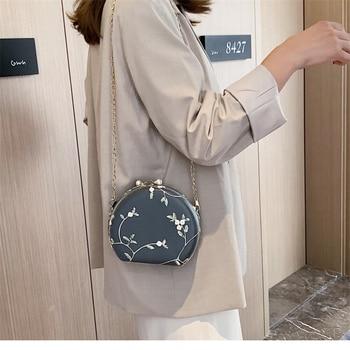 2020 nueva moda de Mujeres de encaje Floral bolsos bandolera de cadena de la cremallera con estilo Vintage damas bolsos de hombro mensajero Bolso pequeño