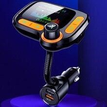 Aux модулятор Hands Free музыка беспроводной Bluetooth Автомобильный mp3 плеер fm-передатчик ЖК-дисплей двойной USB зарядное устройство 1,77 дюймов экран