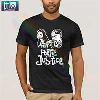 Футболка Poetic Justice 2pac, популярная футболка, футболки с круглым вырезом из 100% хлопка, уникальные винтажные футболки с короткими рукавами и выр...