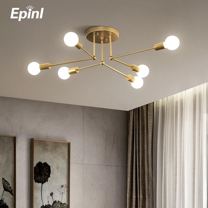 Скандинавская потолочная лампа, простой теплый Креативный светодиодный светильник для спальни, гостиной, современные декоративные потоло...