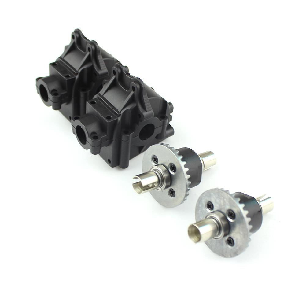 2 Sets Metal Differential+Plastic Gear Box For Wltoys 144001 1/14 4WD High Speed Racing RC Car Vehicle Models Parts