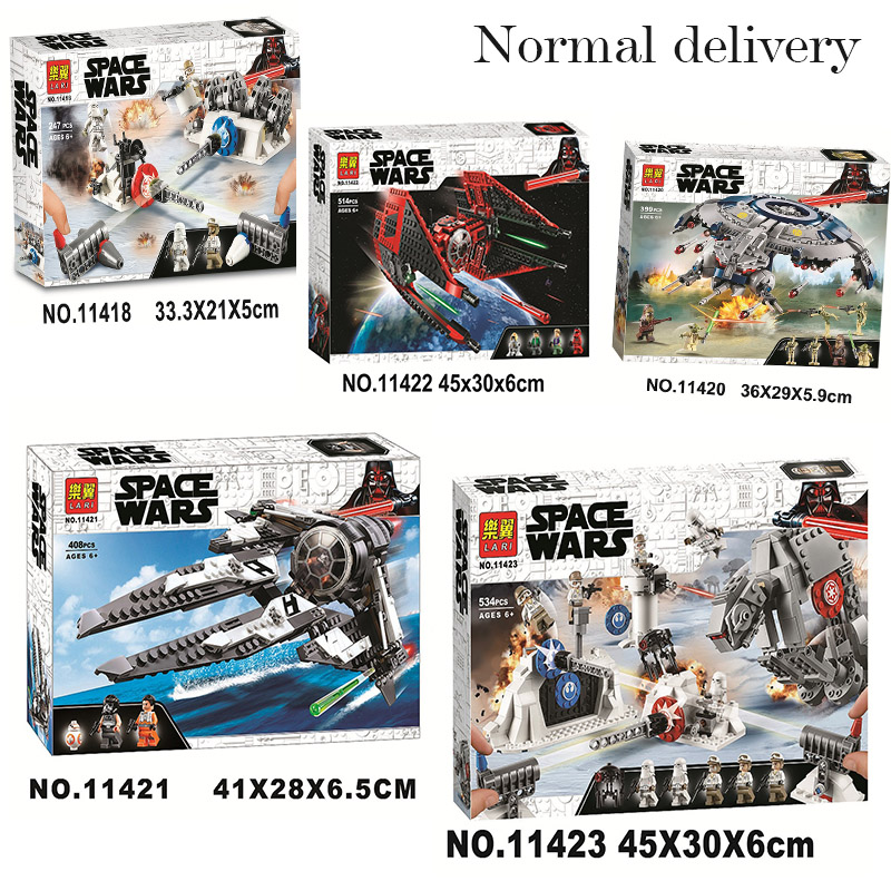 New StarWars Interceptor Major Vonreg Fighter LepiningStarWars 75233 75242 75240 75239 Building Blocks Bricks Toy