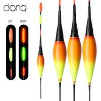 DONQL 1Pcs Shallow Water Luminous LED Electronic Fishing Float Colorful Light Night Fishing Float With Batteries Fishing Tackle