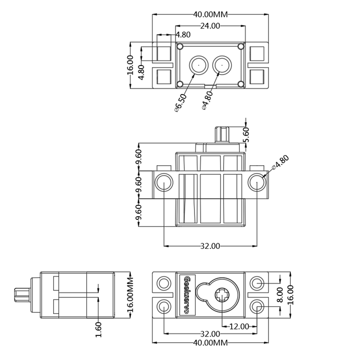 360 degree Rotation servo motor geekservo